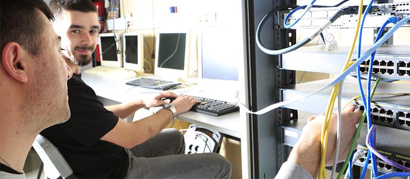 Curso de Lanbide Operador de redes departamentales impartido en Donostia por AEG